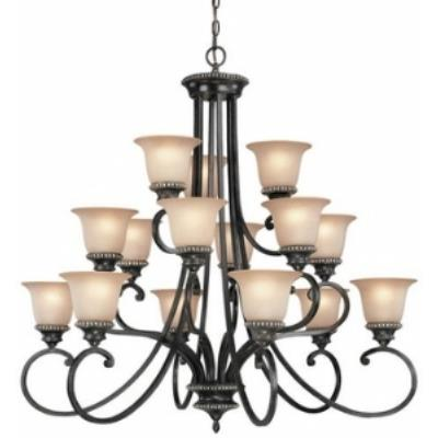 Dolan Lighting 1753-148 Hastings - Fifteen Light Three Tier Chandelier