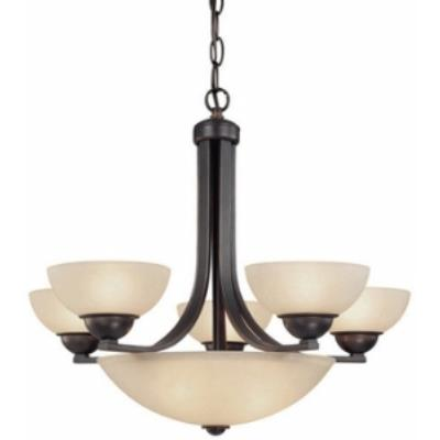 Dolan Lighting 208-78 Fireside - Eight Light Chandelier