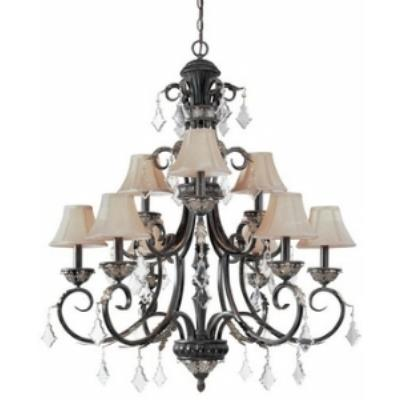 Dolan Lighting 2102-148 Florence - Nine Light Two Tier Chandelier