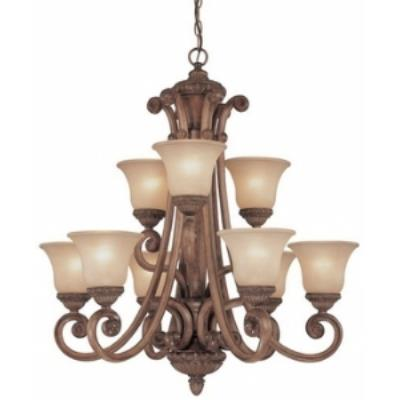 Dolan Lighting 2402-54 Carlyle - Nine Light Two Tier Chandelier