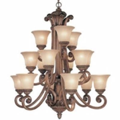 Dolan Lighting 2403-162 Carlyle - Fifteen Light Three-Tier Chandelier