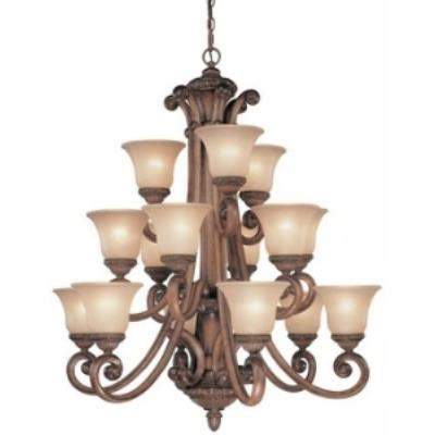 Dolan Lighting 2403-54 Carlyle - Fifteen Light Three Tier Chandelier