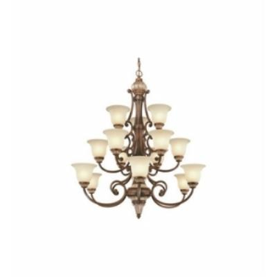 Dolan Lighting 2643 Bonita - Fifteen Light Three Tier Chandelier
