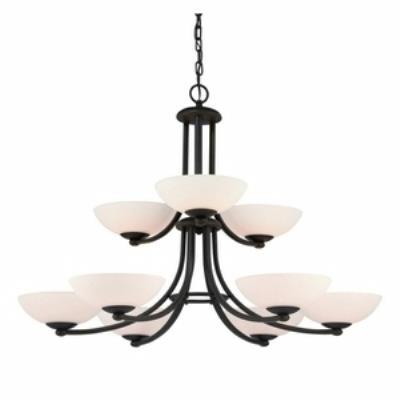 Dolan Lighting 2902-78 Rainier - Nine Light Chandelier