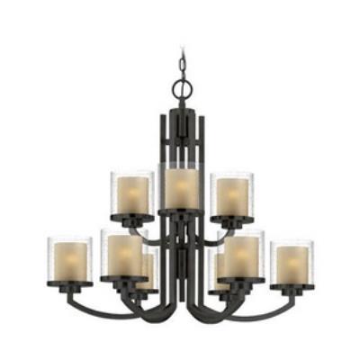Dolan Lighting 2952-78 Horizon - Nine Light 2-Tier Chandelier