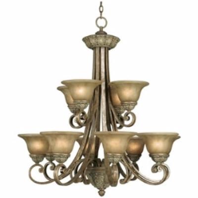 Dolan Lighting 822-38 Windsor - Twelve Light Two Tier Chandelier