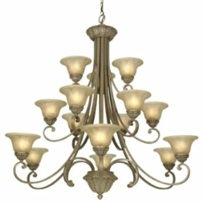 Dolan Lighting 829-38 Windsor - Fifteen Light Three Tier Chandelier