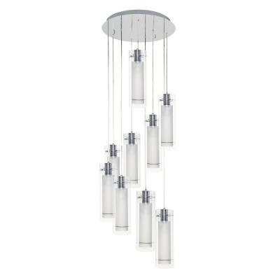 ET2 Lighting E22204-10 Frost - Nine Light Pendant