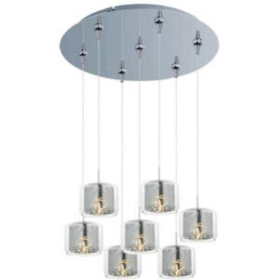 ET2 Lighting E93749-146PC Confetti 7-Light RapidJack Pendant and Canopy
