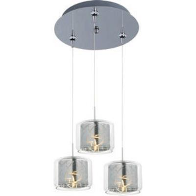 ET2 Lighting E94649-146PC Confetti 3-Light RapidJack Pendant and Canopy