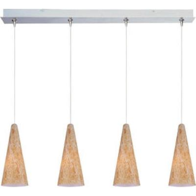 ET2 Lighting E94930-103SN Lava 4-Light RapidJack Pendant and Canopy