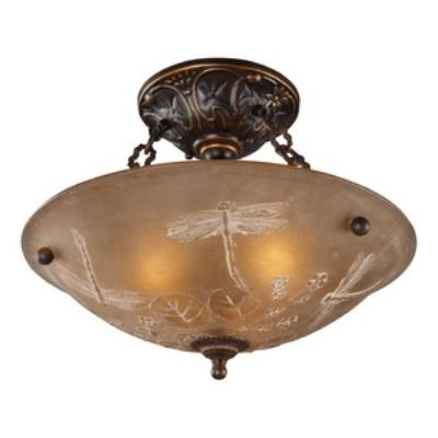 Elk Lighting 08096-AGB Restoration Flushes - Three Light Semi-Flush Mount