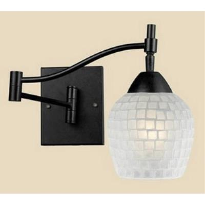 Elk Lighting 10151/1DR-WHT Celina - One Light Swing Arm Wall Sconce