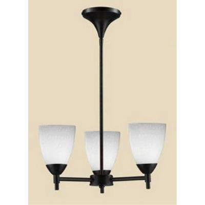 Elk Lighting 10154/3DR-WH Celina - Three Light Chandelier