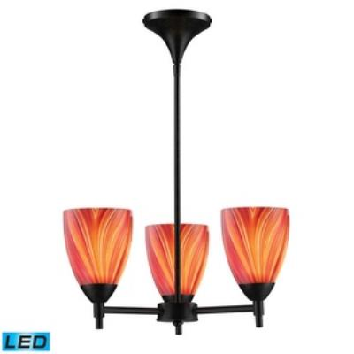 Elk Lighting 10154/3DR-M -LED Celina - Three Light Chandelier