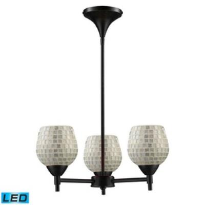 Elk Lighting 10154/3DR-SLV-LED Celina - Three Light Chandelier
