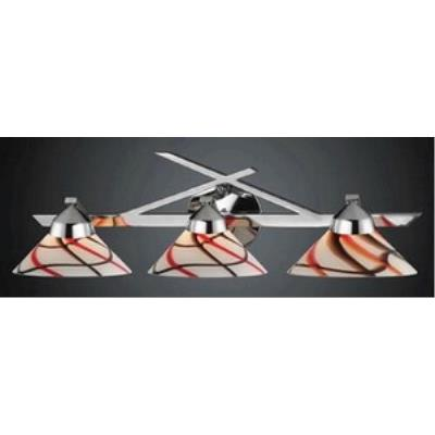 Elk Lighting 1472/3CRW Refraction - Three Light Wall Bracket