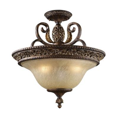 Elk Lighting 2157/3 Regency - Three Light Semi-Flush Mount