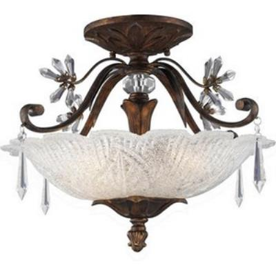 Elk Lighting 2181/3 Emilion - Three Light Semi Flush Mount