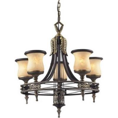Elk Lighting 2435/5 Georgian Court - Five Light Round Chandelier