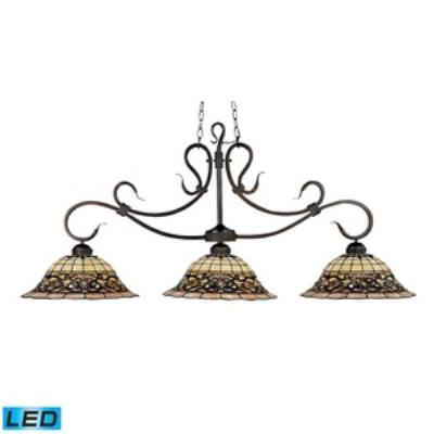 Elk Lighting 348-VA-LED Tiffany Buckingham - Three Light Island