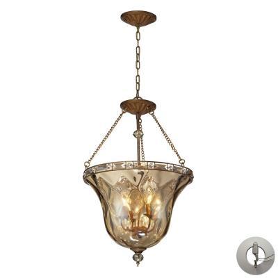 Elk Lighting 46022/4-LA Cheltham - Four Light Semi-Flush Mount