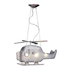 Novelty - Three Light Helicopter Shaped Pendant