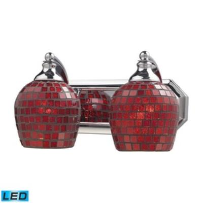 Elk Lighting 570-2C-CPR-LED Vanity - Two Light Bath Bar