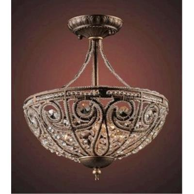 Elk Lighting 5964/3 Elizabethan - Three Light Semi Flush