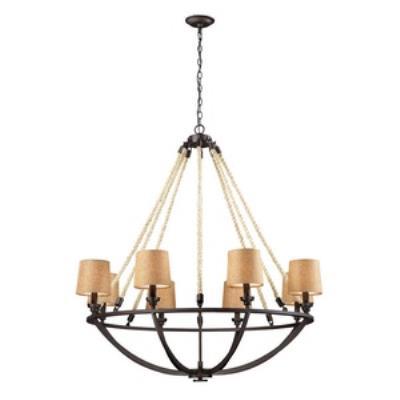 Elk Lighting 63017-8 Natural Rope - Eight Light Chandelier