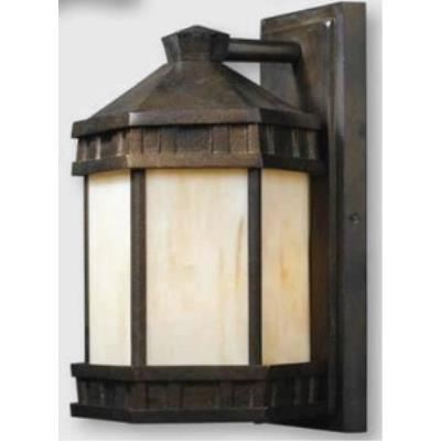 Elk Lighting 64021-1 Mission Abbey - One Light Outdoor Wall Mount