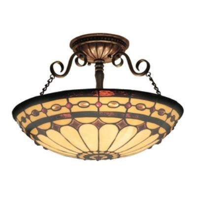 Elk Lighting 641-BC Diamond Ring - Three Light Semi-Flush Mount