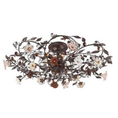Elk Lighting 7047/6 Cristallo Fiore - Six Light Semi Flush Mount