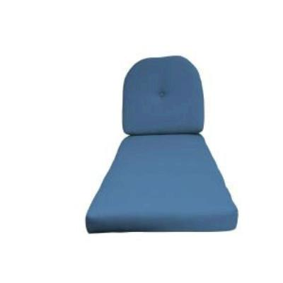 Fiberbuilt Umbrellas RI01CC Cushion for Wrought Iron Chaise Lounge