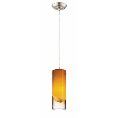 Forecast Lighting FC0009836 Crete 1-light pendant in Satin Nickel finish
