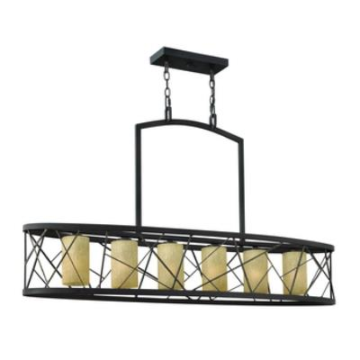 Fredrick Ramond Lighting FR41616ORB Nest - Six Light Island Chandelier