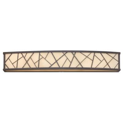 Fredrick Ramond Lighting FR52206ORB Nest - Six Light Bath Bar
