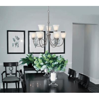 Golden Lighting 1264-9 Grace - Nine Light Chandelier