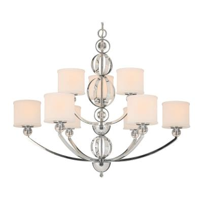 Golden Lighting 1030-9 CH Cerchi - Nine Light Chandelier