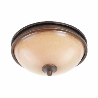 Golden Lighting 1051-FM SBZ Hidalgo - Two Light Flush Mount