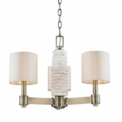 Golden Lighting 1212-M3 AB Corsica - Three Light Mini Chandelier