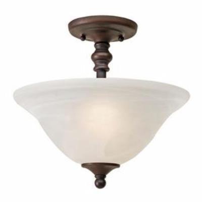 Golden Lighting 1264-SF Grace - Two Light Convertible Semi-Flush Mount
