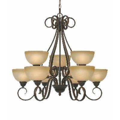 Golden Lighting 1567-9 PC Riverton - 9 Light Chandelier