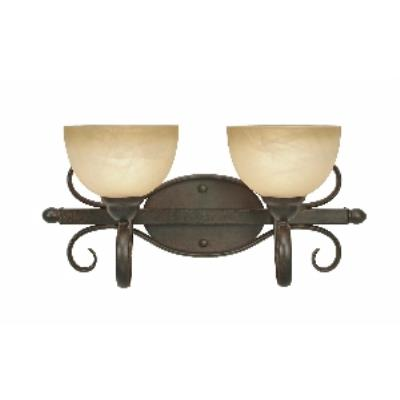 Golden Lighting 1567-BA2 PC Riverton - 2 Light Bath Fixture