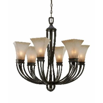 Golden Lighting 1850-6 RT Genesis -  Six Light Chandelier