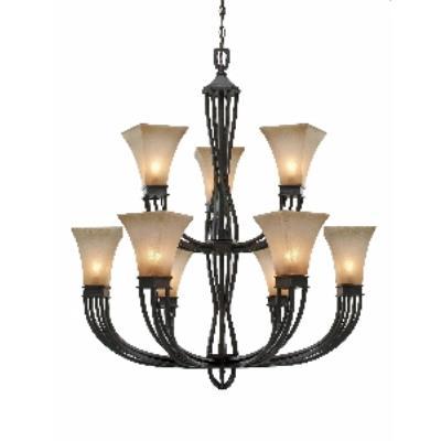Golden Lighting 1850-9 RT Genesis -  Nine Light Chandelier