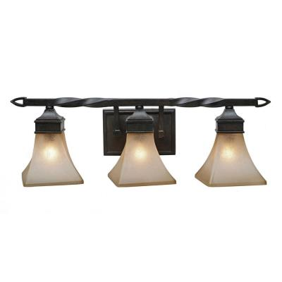 Golden Lighting 1850-BA3 RT Genesis -  Three Light Vanity
