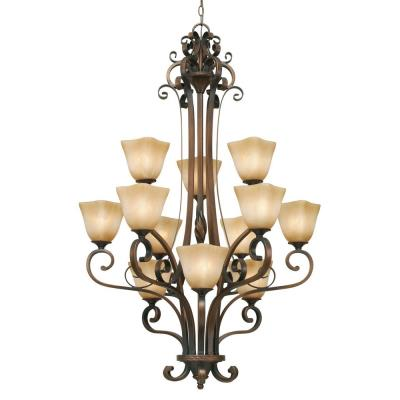 Golden Lighting 3890-363 GB 3 Tier Chandelier