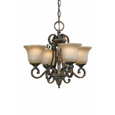 Golden Lighting 3890-GM4 GB Mini Chandelier