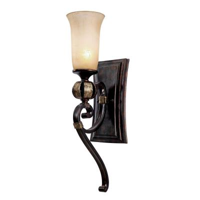 Golden Lighting 3966-BA1 FB Portland 1 Light Wall Sconce